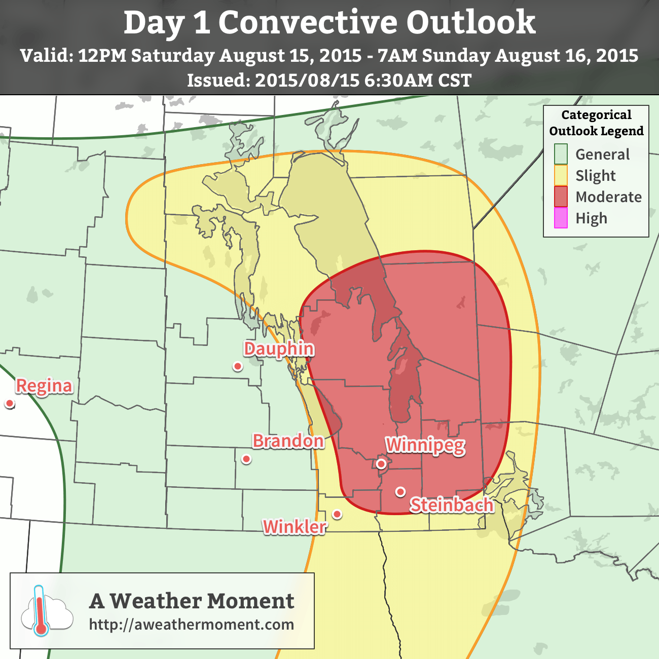 AWM Day 1 Convective Outlook for August 12, 2015