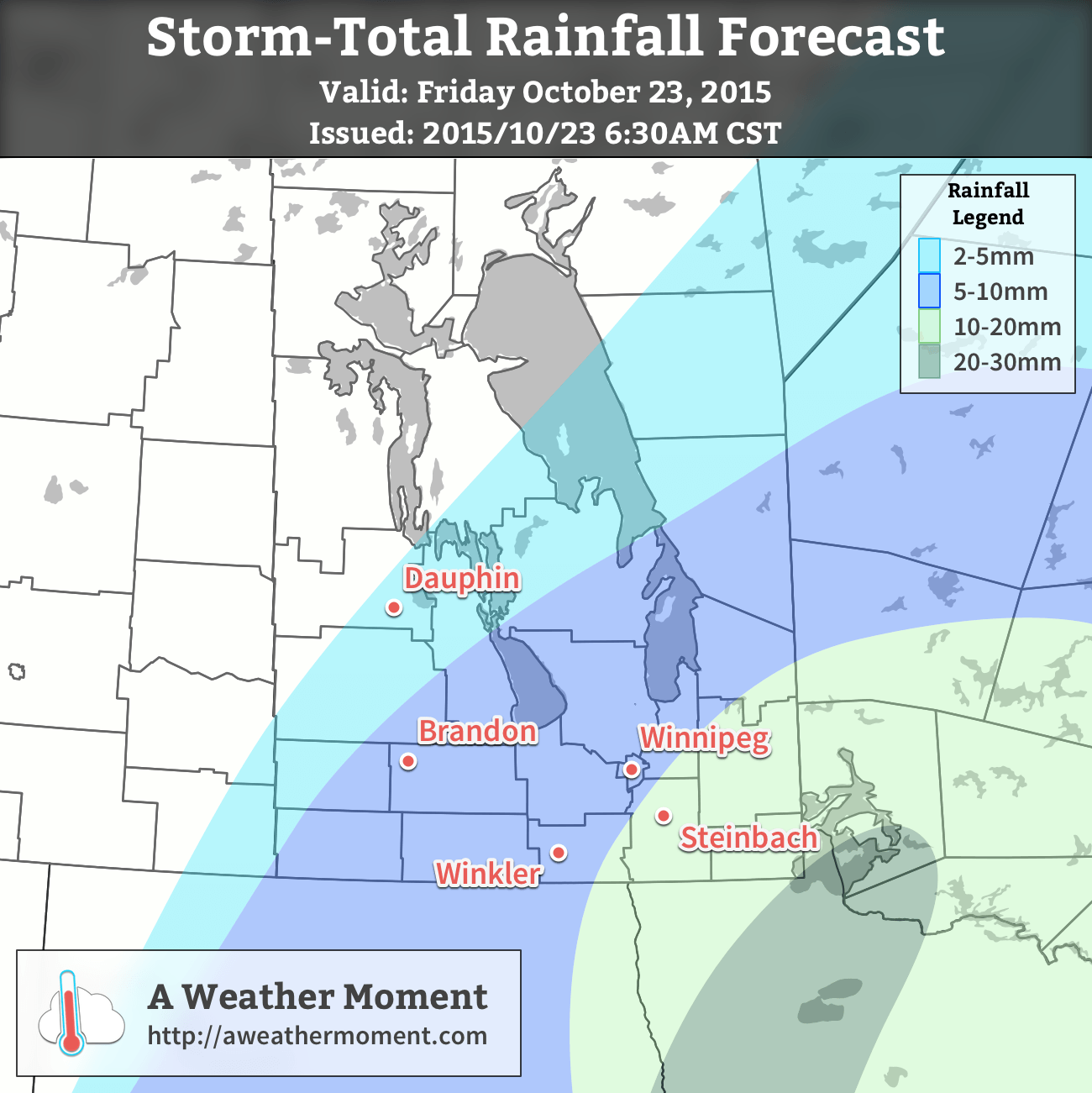 Storm-Total Rainfall Outlook