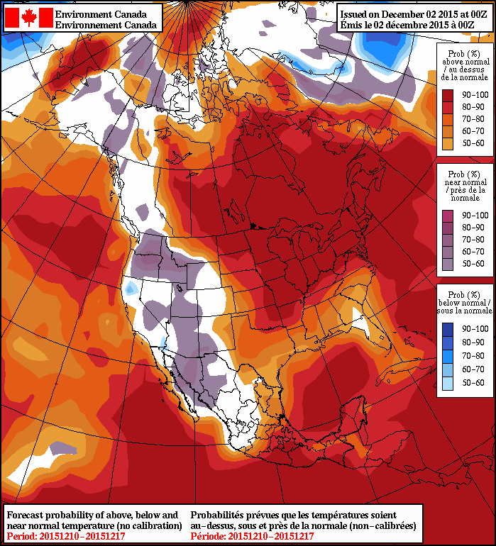 NAEFS 8-14 Day Temperature Anomaly Forecast valid December 10 to 17th, 2015