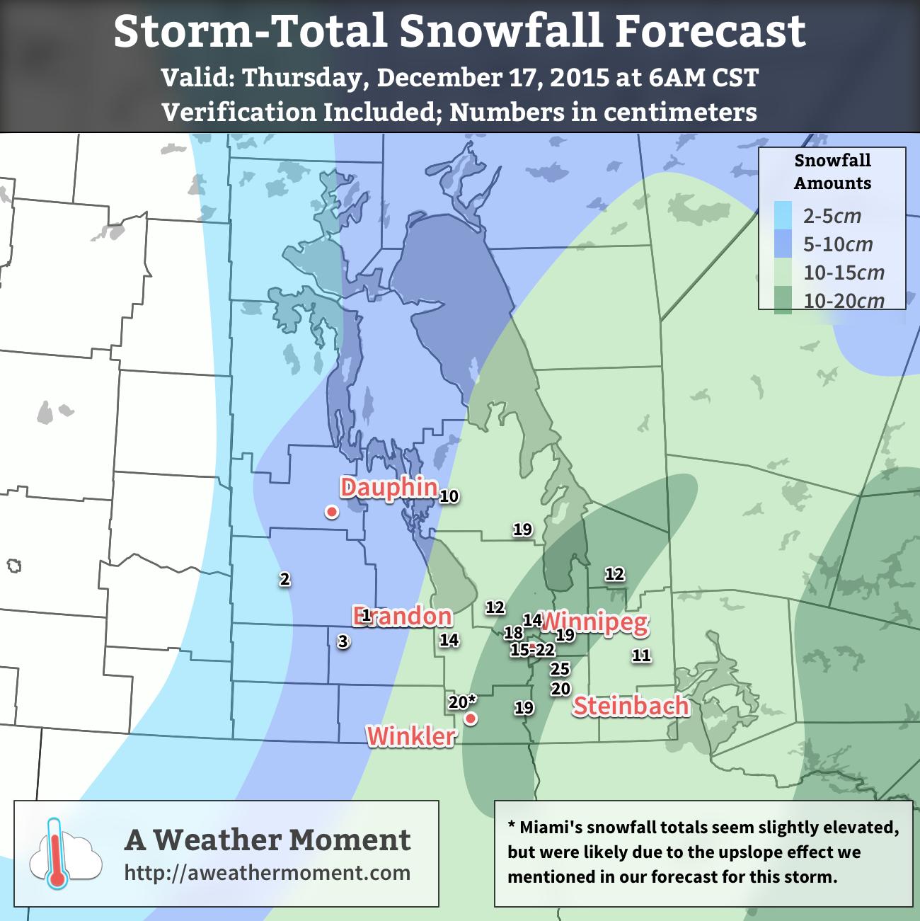 AWM Snowfall Outlook for December 15-17, 2015