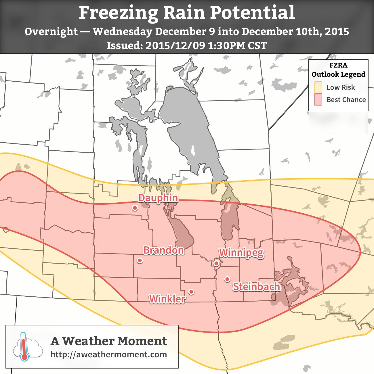 Freezing Rain Potential for December 9-10, 2015