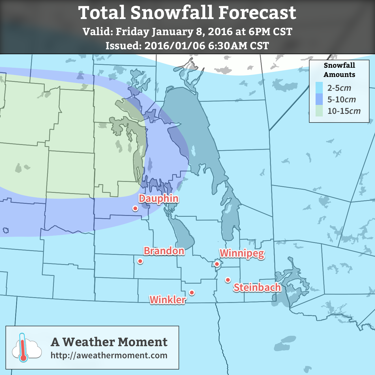 AWM Snowfall Forecast for January 7-8, 2016
