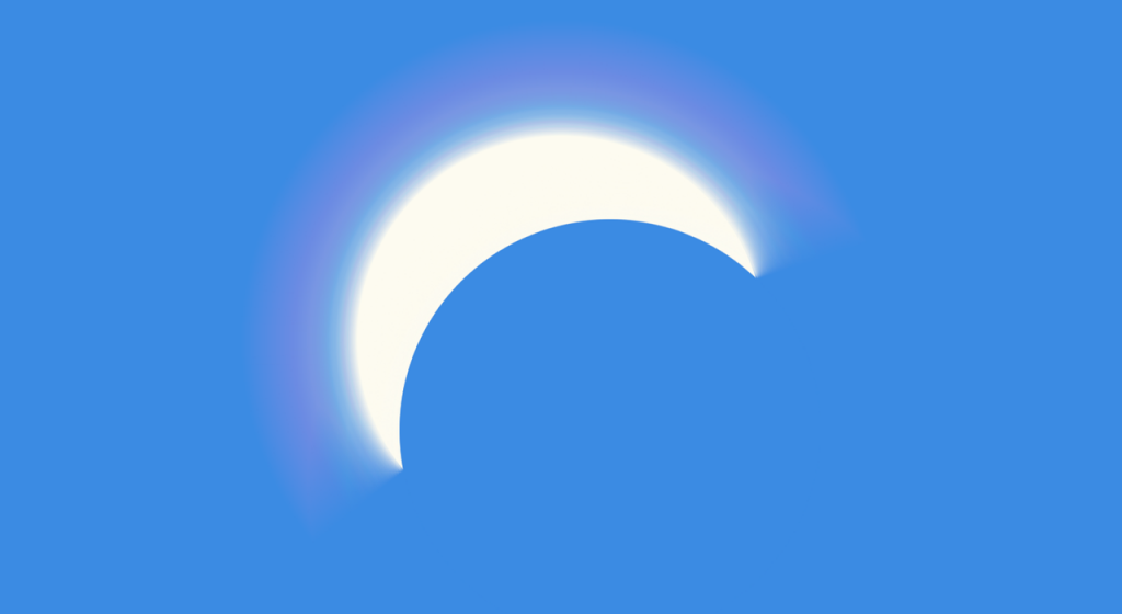 Simulated image of the 2017 solar eclipse at peak coverage in Winnipeg, MB.