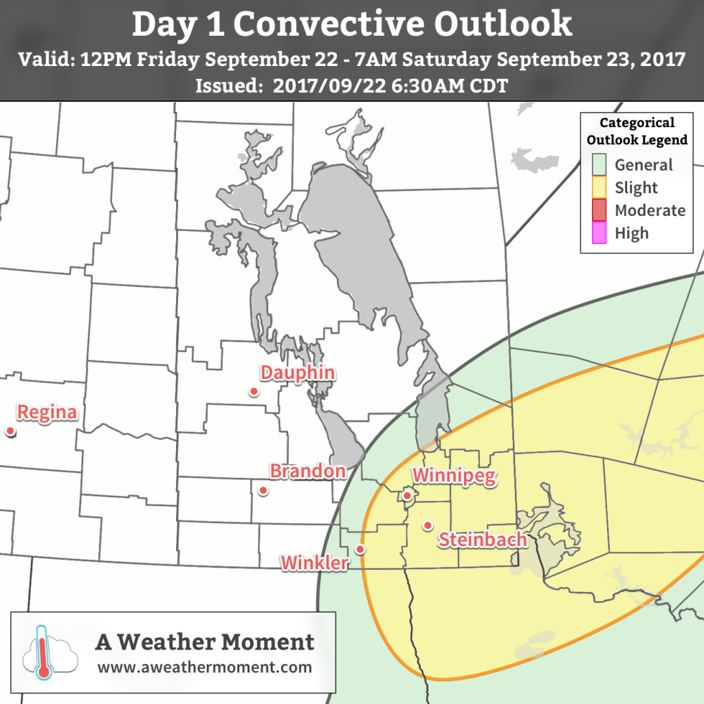 AWM Thunderstorm Outlook for September 22, 2017