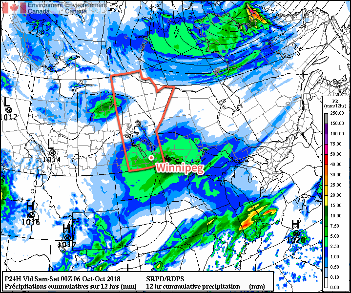From snow in the southwest to rain in the southeast and a wintery mix between the two, southern Manitoba will see another wet day today.