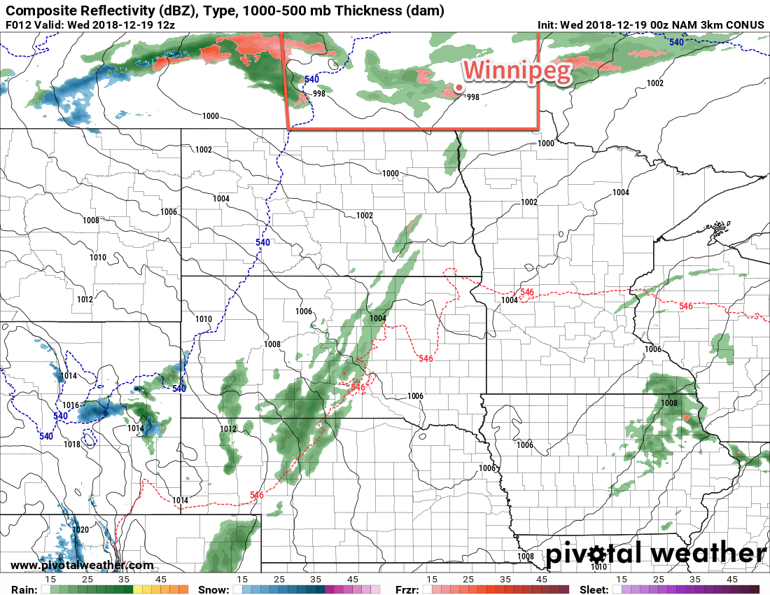 Freezing rain is possible over the Red River Valley early this morning.